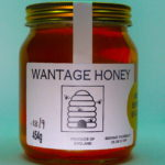The front elevation of a jar of Wantage Honey from Beehive Yourself. #BeehiveYourself #WantageHoney
