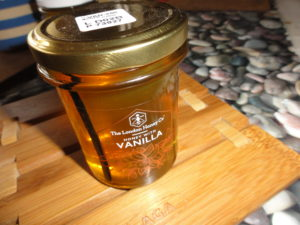 London Honey Company, Honey With Vanilla. Honey in contained in a bonta jar.