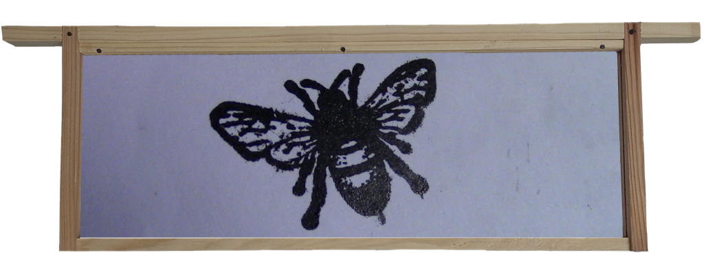 Printing Bees on Tissue Paper Using An Adana Printing Press