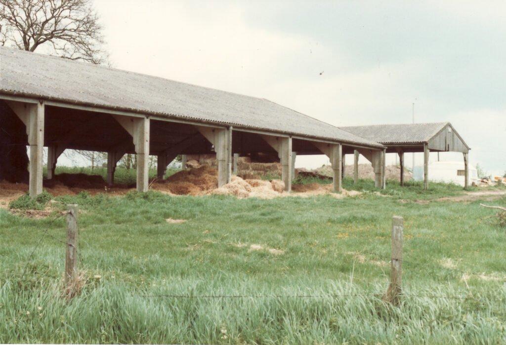Modern Barns At Worlds End Farm, circa 1984.